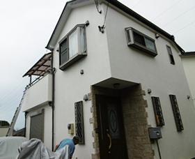外壁サイディングクリア塗装
